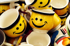 Smiley Cups for Lovable Couples Royalty Free Stock Image