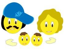 Smiley da família Imagem de Stock