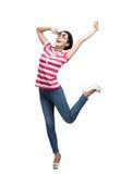 Smiley dancing teenager Stock Photo