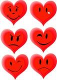 Smiley dans des formes de coeur Photographie stock