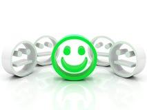 Smiley dans la foule Photographie stock libre de droits