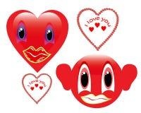 Smiley de dos rojos Imagen de archivo