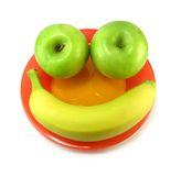 Smiley de fruit photo stock