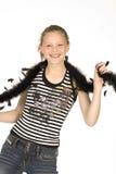 Smiley de l'adolescence   photos stock