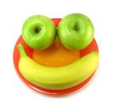 Smiley de la fruta foto de archivo