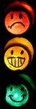 Smiley de la luz de calle Imagen de archivo