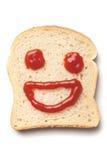 Smiley de la salsa de tomate Imagen de archivo libre de regalías