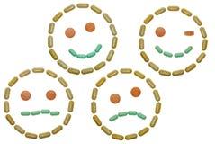 Smiley de la vitamina Foto de archivo libre de regalías