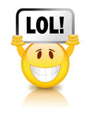 Smiley de Lol Imagens de Stock