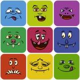 Smiley de monstre, ensemble Photographie stock