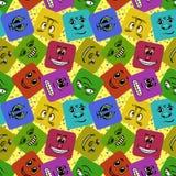 Smiley de monstre, sans couture Photo libre de droits