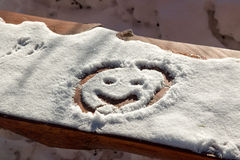 Smiley de neige Images libres de droits