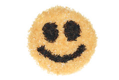 smiley de riz Photo stock