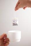 Smiley de sachet à thé images libres de droits