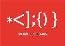 Smiley de Santa Claus, cartão de Natal tipográfico, projeto gráfico de vetor ilustração stock