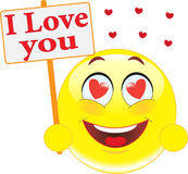 Smiley. Declaration Of Love. Royalty Free Stock Photo