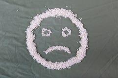 Smiley del arroz Foto de archivo libre de regalías