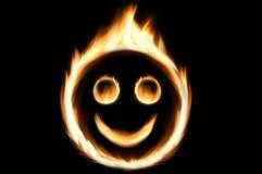 Smiley del fuego Imagen de archivo libre de regalías