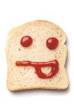 Smiley del ketchup Fotografia Stock Libera da Diritti