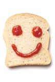 Smiley del ketchup Immagine Stock Libera da Diritti