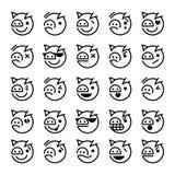 Smiley del maiale Fotografia Stock