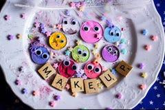 smiley del maquillaje Imagen de archivo libre de regalías