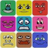 Smiley del mostro, insieme Immagini Stock
