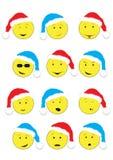 Smiley del nuovo anno Fotografia Stock