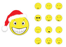 Smiley del nuovo anno Immagini Stock