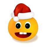 Smiley del nuovo anno nel berretto da notte Fotografia Stock