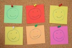 Smiley del tablón de anuncios Imagen de archivo libre de regalías