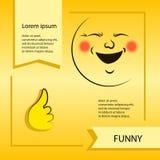Smiley del vector Una pequeña criatura linda Expresa emociones Imagenes de archivo