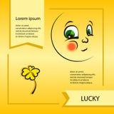 Smiley del vector Una pequeña criatura linda Expresa emociones Fotos de archivo libres de regalías