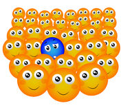 Smiley dell'intruso Immagine Stock