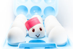 Smiley dell'uovo Immagini Stock Libere da Diritti