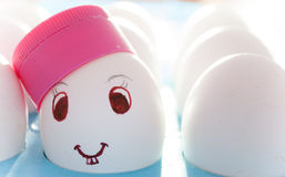 Smiley dell'uovo Immagine Stock Libera da Diritti