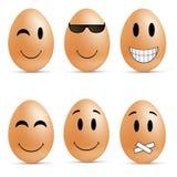 Smiley dell'uovo Fotografia Stock