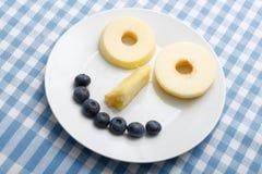 Smiley della frutta Immagini Stock