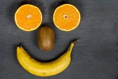 Smiley della frutta Immagine Stock