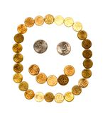 Smiley della moneta Fotografie Stock