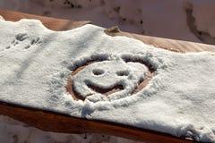 Smiley della neve Immagini Stock Libere da Diritti