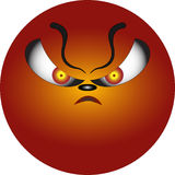 Smiley depicting anger Stock Photo
