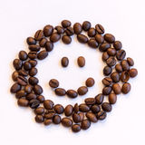 Smiley des grains de café Photographie stock libre de droits