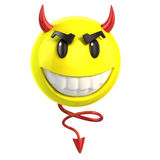 Smiley devil. 3d illustration on white Stock Photos