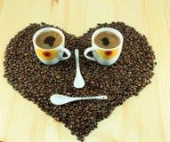 Smiley di caffè Fotografia Stock Libera da Diritti