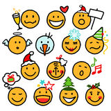 Smiley di natale Immagine Stock