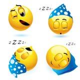 smiley di sonno illustrazione di stock