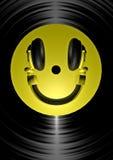 Smiley do auscultadores Fotos de Stock