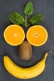 Smiley do fruto Foto de Stock Royalty Free