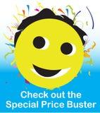 Smiley do imbecil do preço especial Foto de Stock Royalty Free